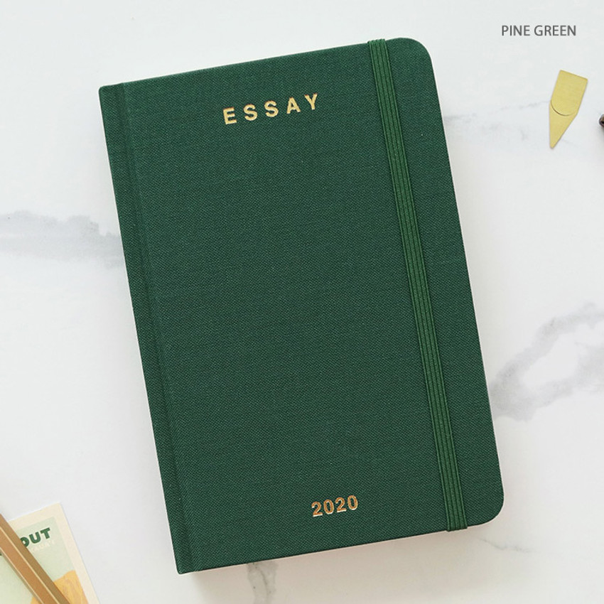 Pine green - PAPERIAN 2020 Essay A6 hardcover dated weekly agenda planner