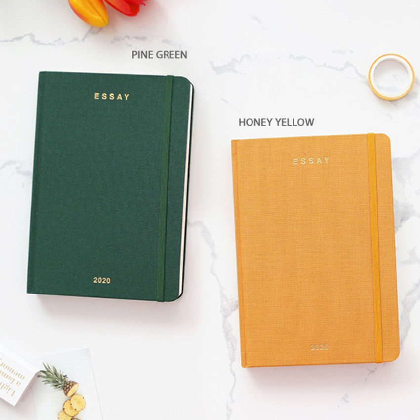 Pine green, Honey yellow - PAPERIAN 2020 Essay B6 hardcover dated weekly agenda planner