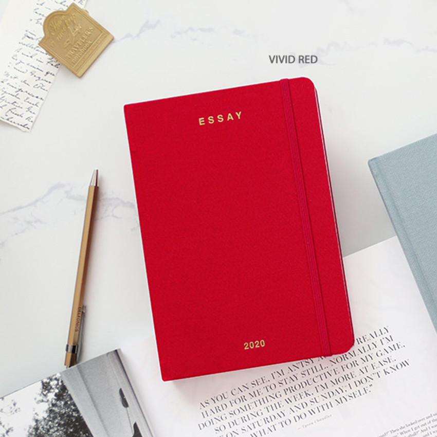 Vivid red - PAPERIAN 2020 Essay B6 hardcover dated weekly agenda planner