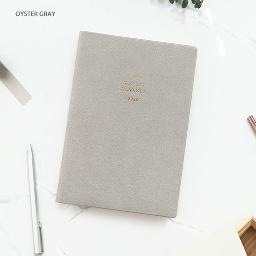 Oyster gray - PAPERIAN 2020 Edit large dated weekly planner scheduler