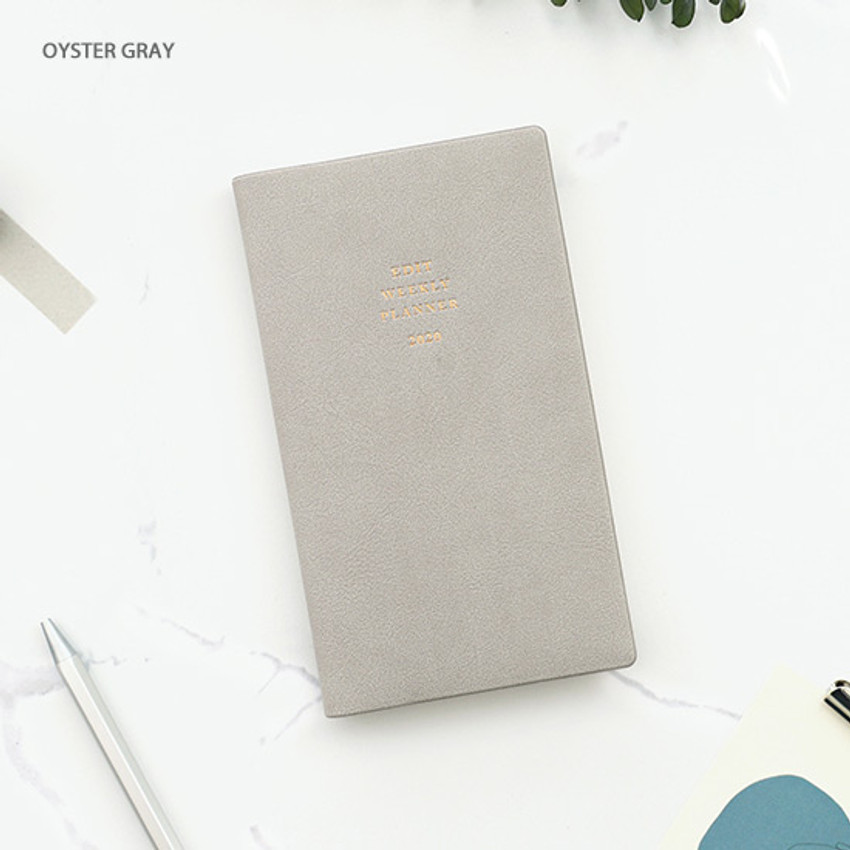 Oyster gray - PAPERIAN 2020 Edit small dated weekly planner scheduler
