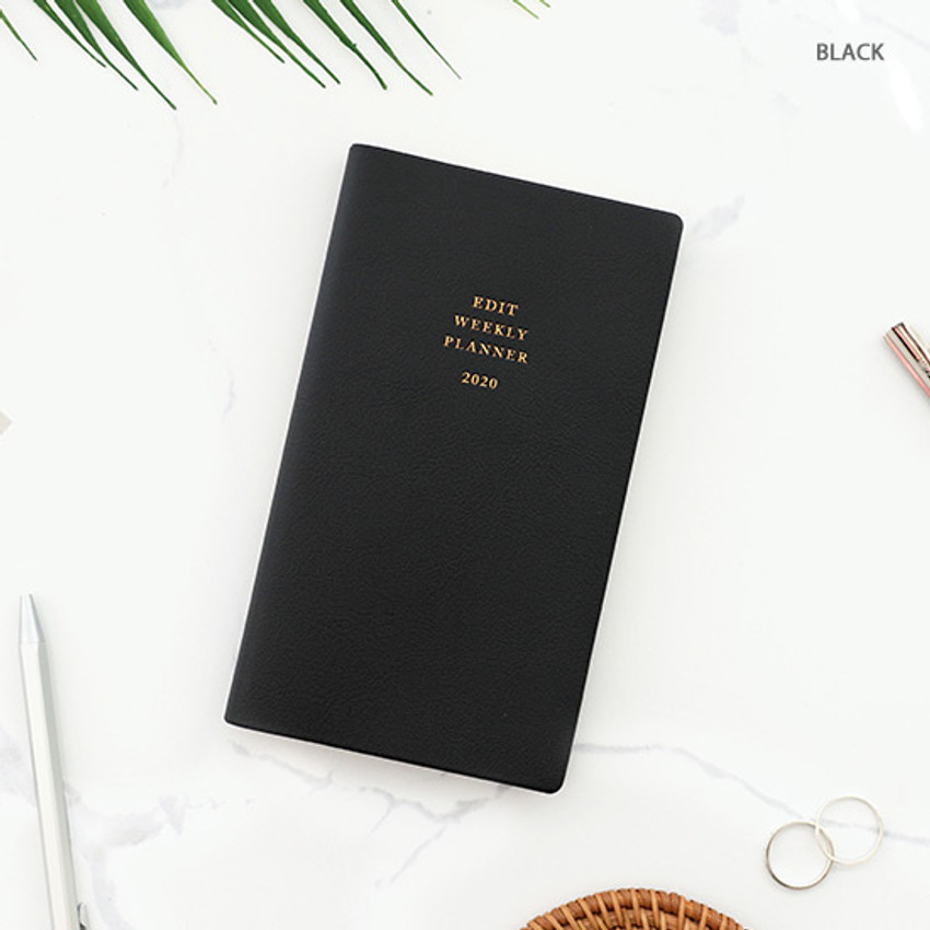 Black - PAPERIAN 2020 Edit small dated weekly planner scheduler