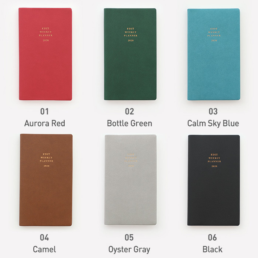 Color - PAPERIAN 2020 Edit small dated weekly planner scheduler