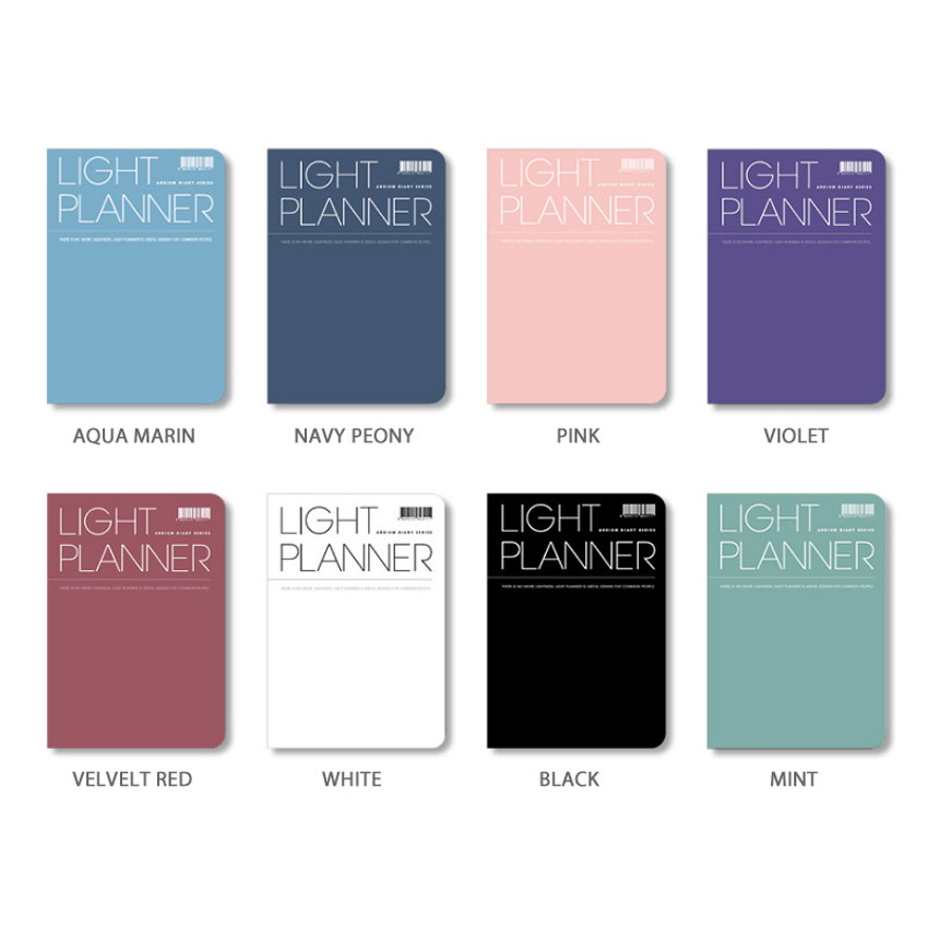 Color - Ardium 2020 Light dated daily planner scheduler