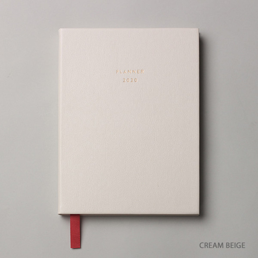 Cream beige - Dash And Dot 2020 Pro red bookmark dated weekly planner