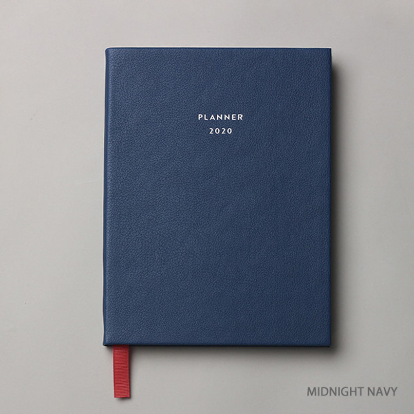 Midnight navy - Dash And Dot 2020 Pro red bookmark dated weekly planner