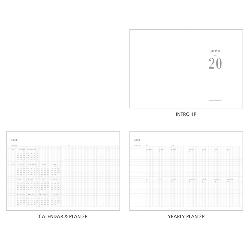 Planner section - O-CHECK 2020 Simple and basic A5 dated weekly planner