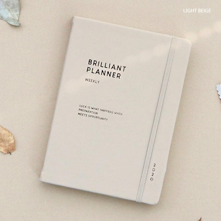 Light beige - ICONIC 2020 Brilliant dated weekly planner scheduler