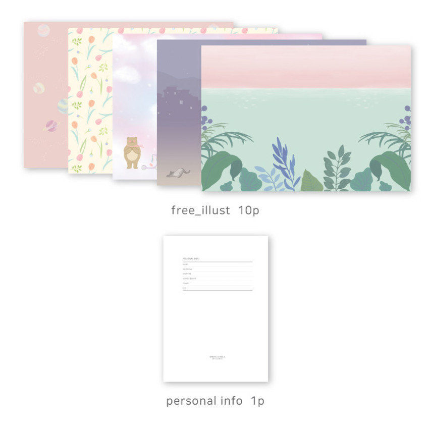 Planner section - O-CHECK 2020 Les beaux jours dated weekly diary planner