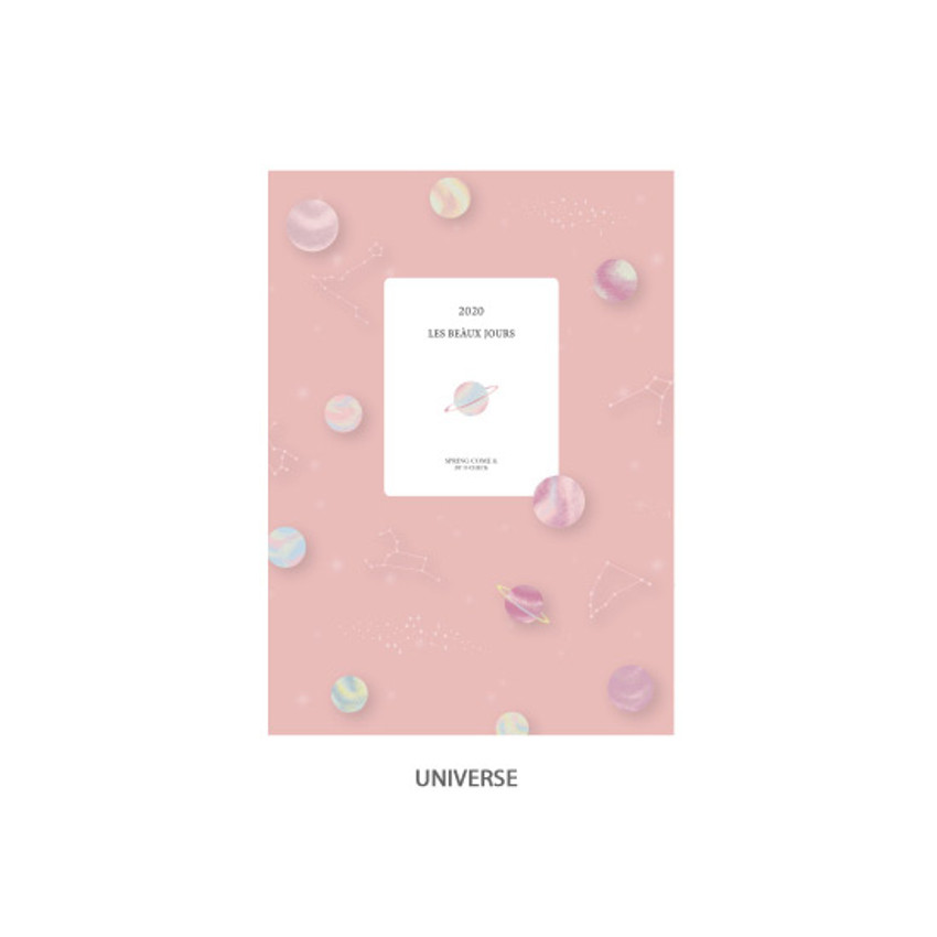 Universe - O-CHECK 2020 Les beaux jours dated weekly diary planner