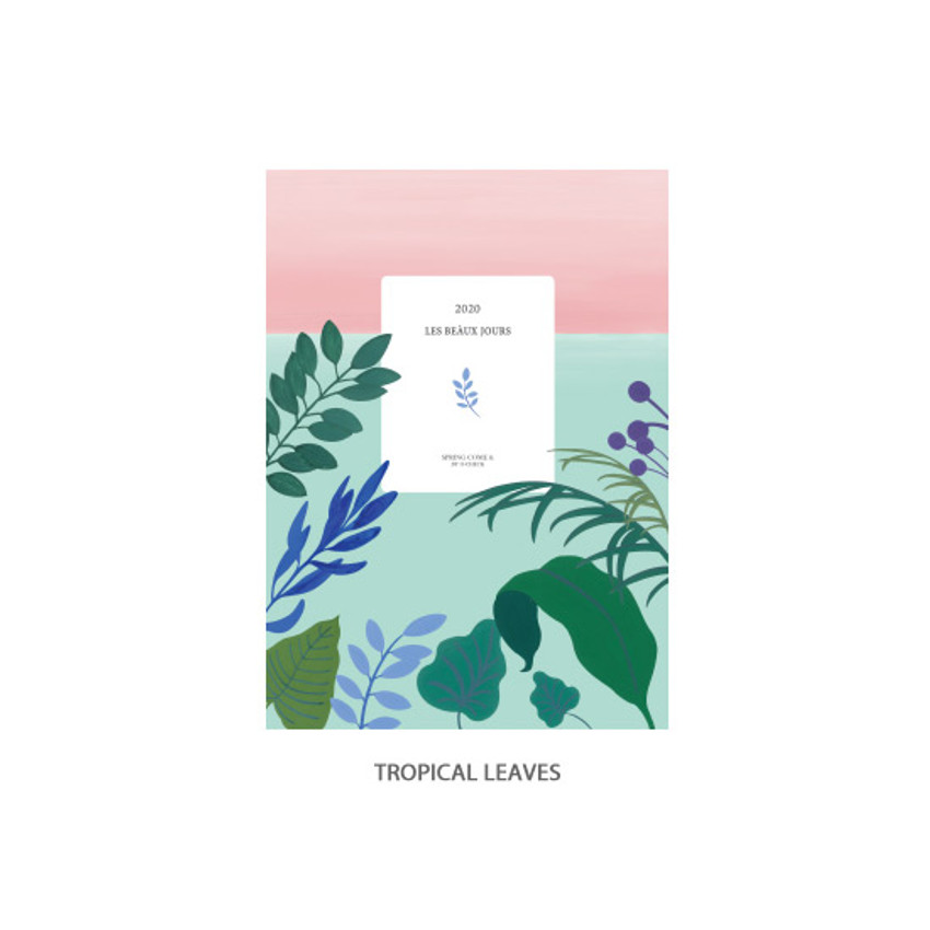 Tropical leaves - O-CHECK 2020 Les beaux jours dated weekly diary planner