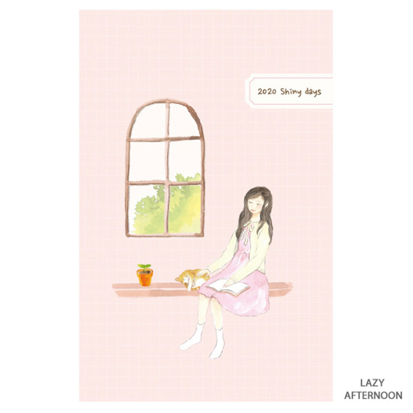 Lazy afternoon - O-CHECK 2020 Shiny days hardcover dated weekly diary planner