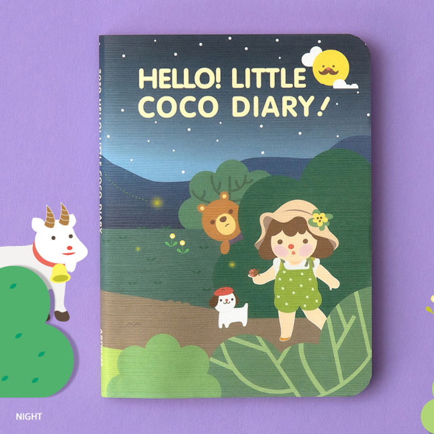 Night - Ardium 2020 Hello little coco dated monthly diary planner