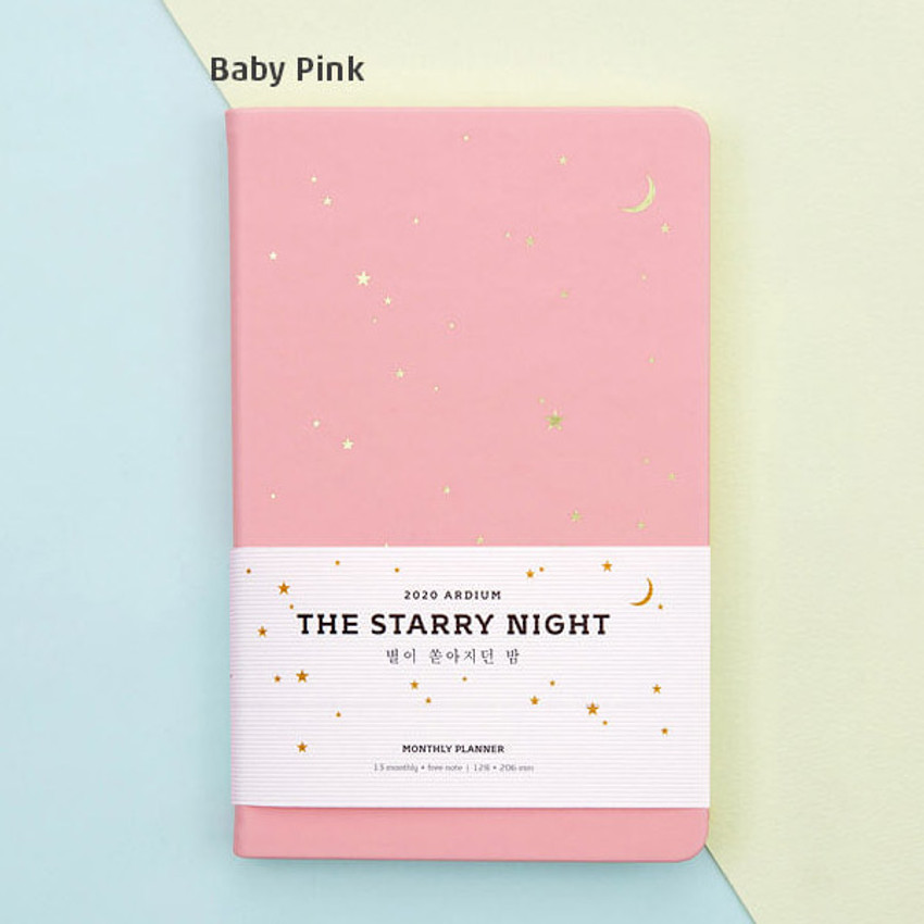 Baby pink - Ardium 2020 The starry night dated monthly diary planner