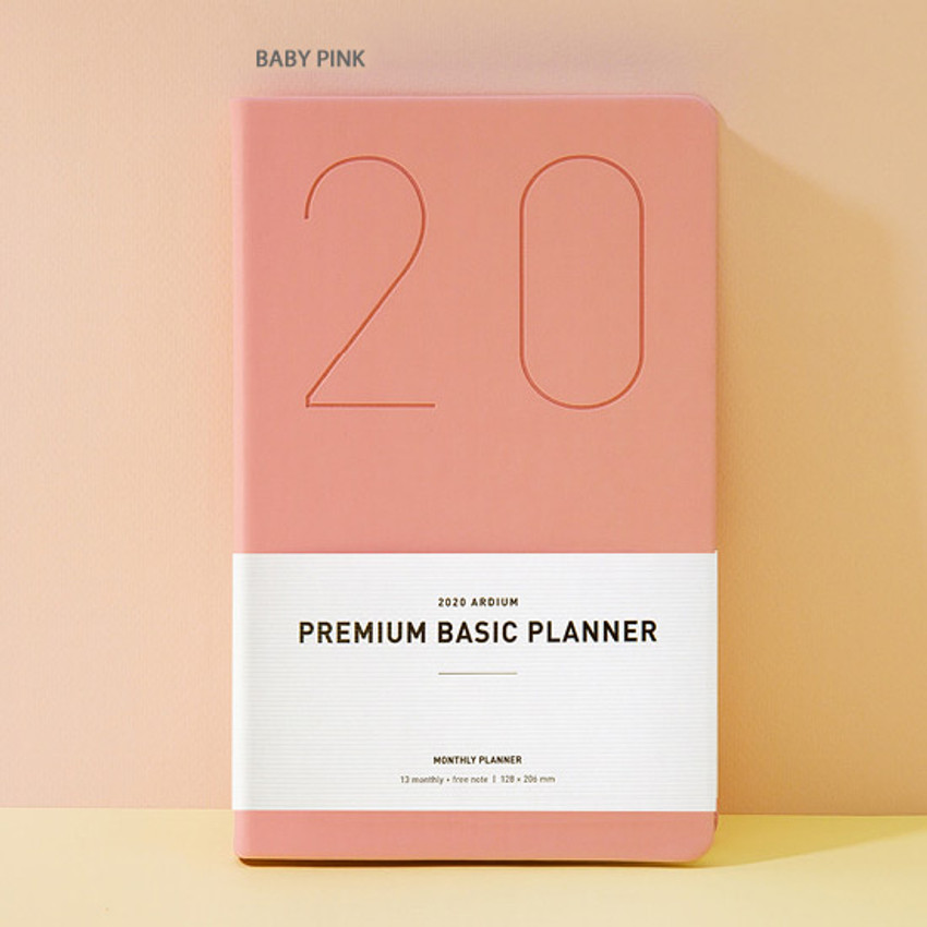 Baby pink - Ardium 2020 Premium basic dated monthly diary planner
