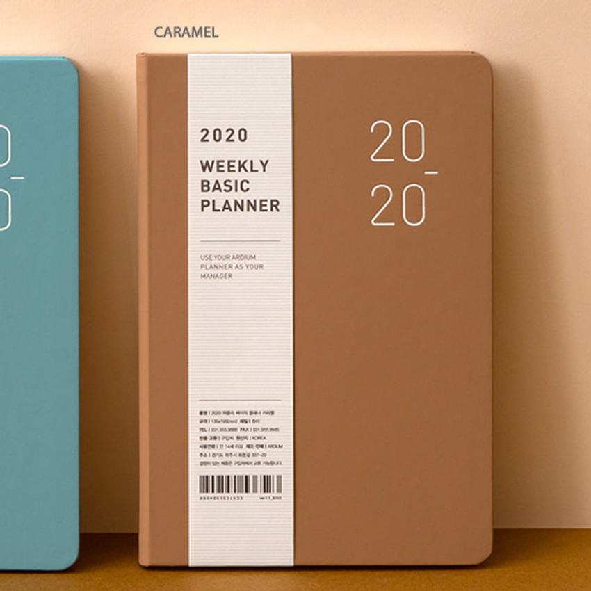 Caramel - Ardium 2020 Basic dated weekly diary planner