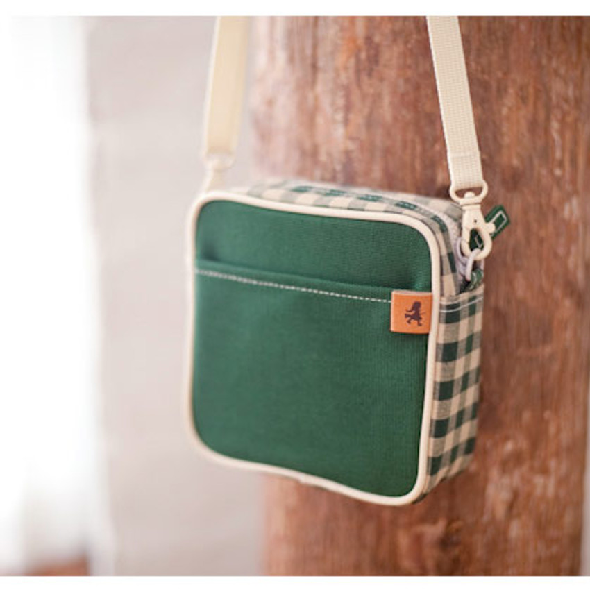 Forest green color - Daily check cross bag