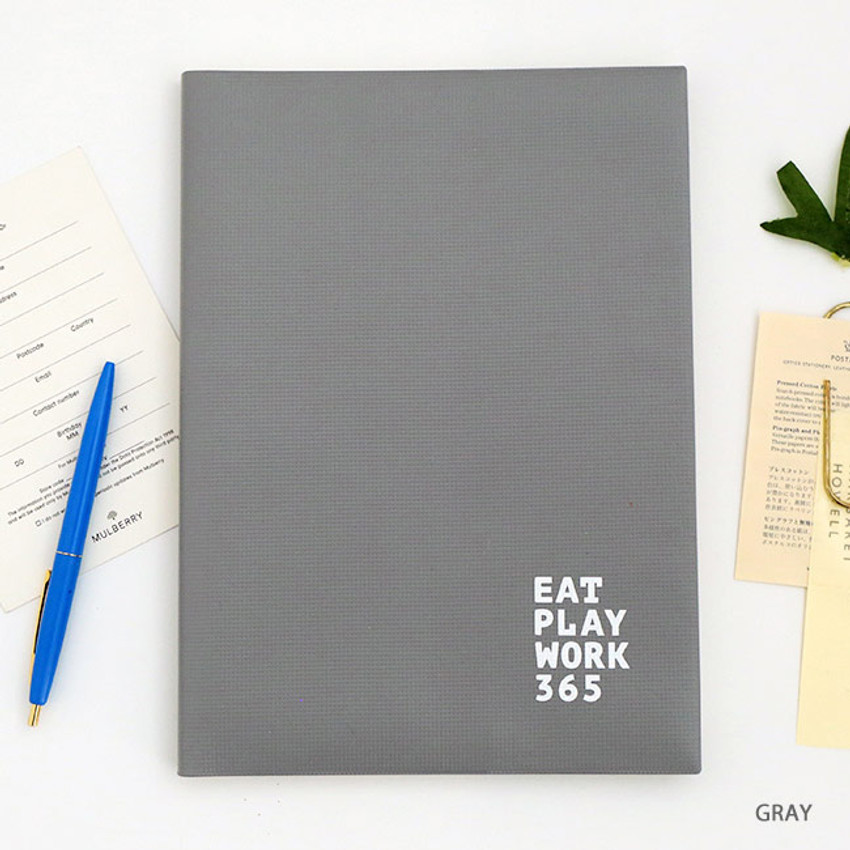 Gray - Romane 2020 Workaholic 365 dated weekly diary planner