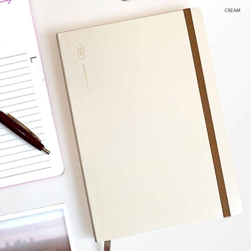 Cream - Gyou 2020 a tous moments dated weekly diary planner