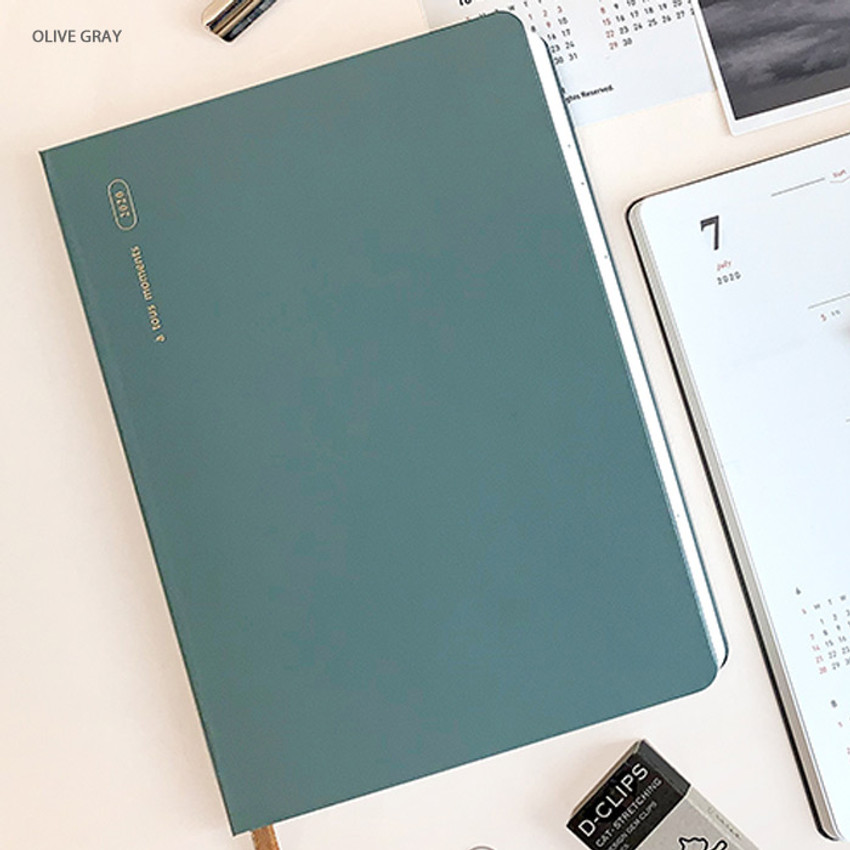 Olive gray - Gyou 2020 a tous moments dated weekly diary planner