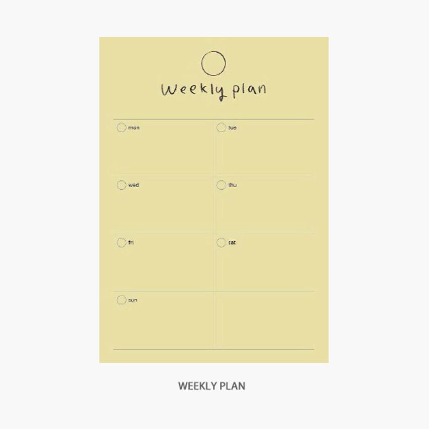 Weekly plan - Gyou Component B6 memo writing notepad