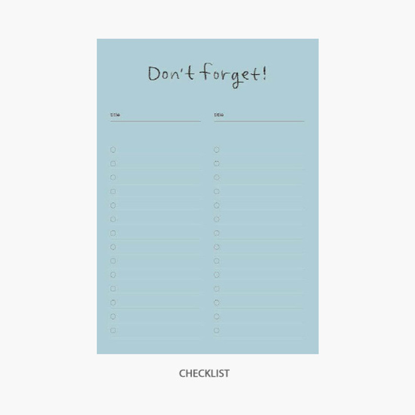 Don'y forget - Gyou Component B6 memo writing notepad