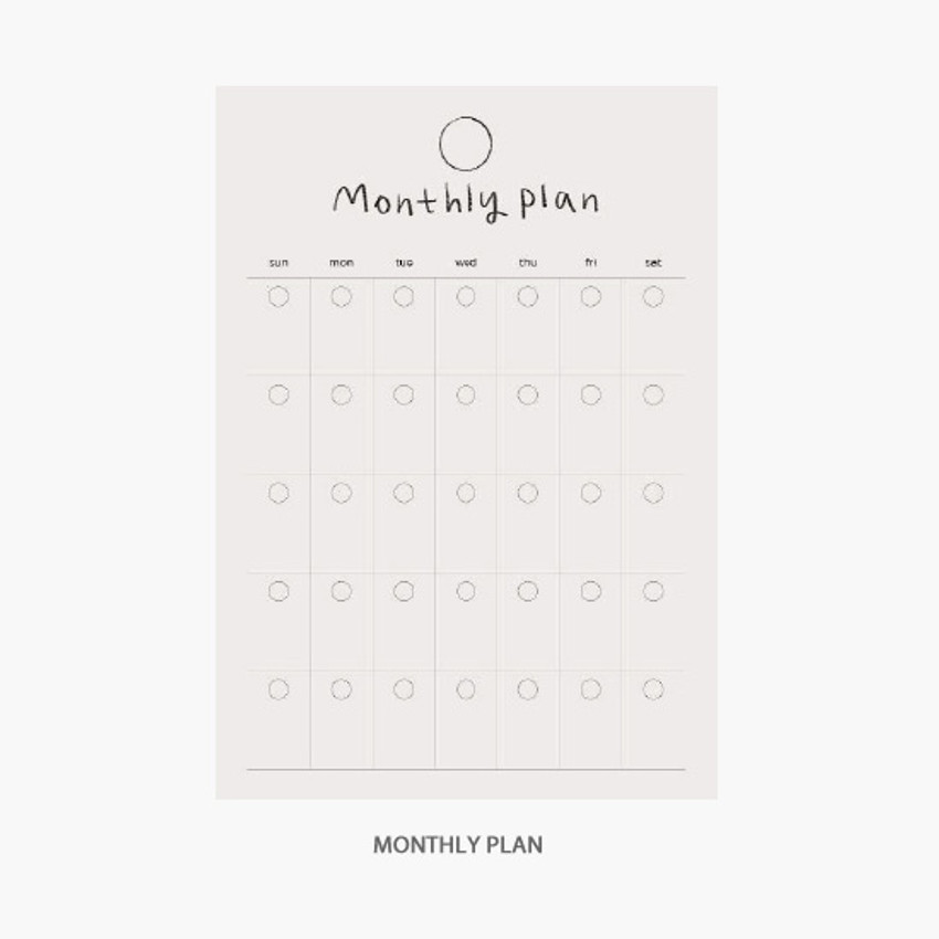 Monthly plan - Gyou Component B6 memo writing notepad