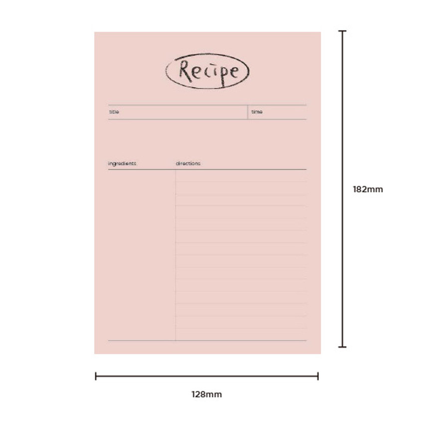 Size - Gyou Component B6 memo writing notepad