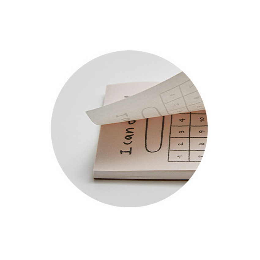 Easy tear-off - Gyou Component B6 memo writing notepad