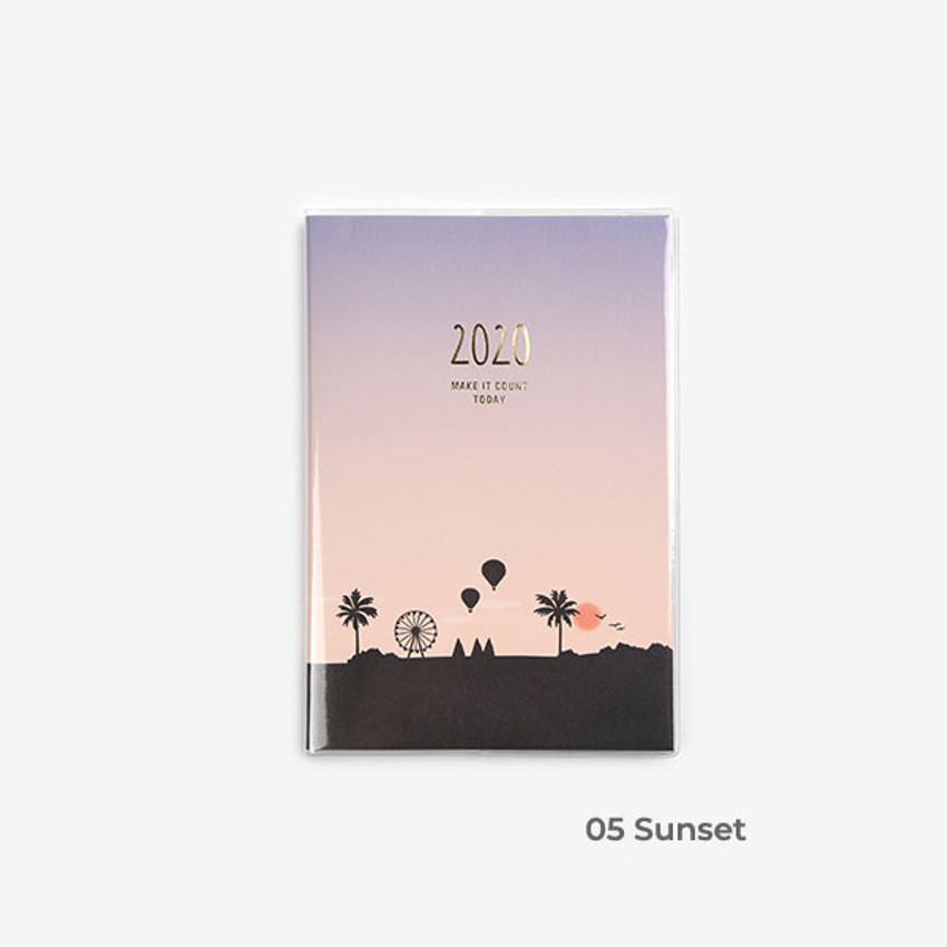 Sunset - 2020 Make it count today dated weekly planner diary