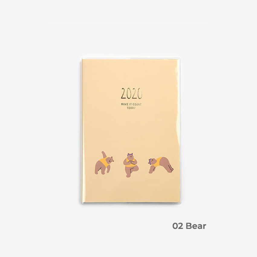 Bear - 2020 Make it count today dated weekly planner diary