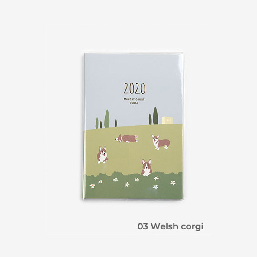 Welch corgi - 2020 Make it count today dated weekly planner diary