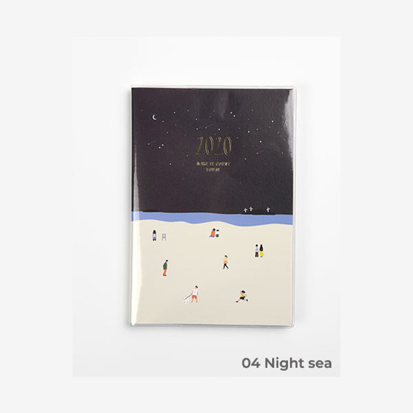 Night sea - 2020 Make it count today dated weekly planner diary