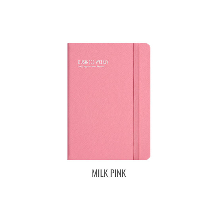 Milk pink - Monopoly 2020 Appointment B6 business dated weekly planner