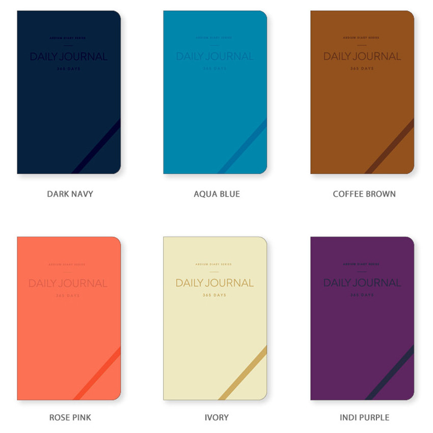 Colors of 2020 365 days medium dated daily journal diary