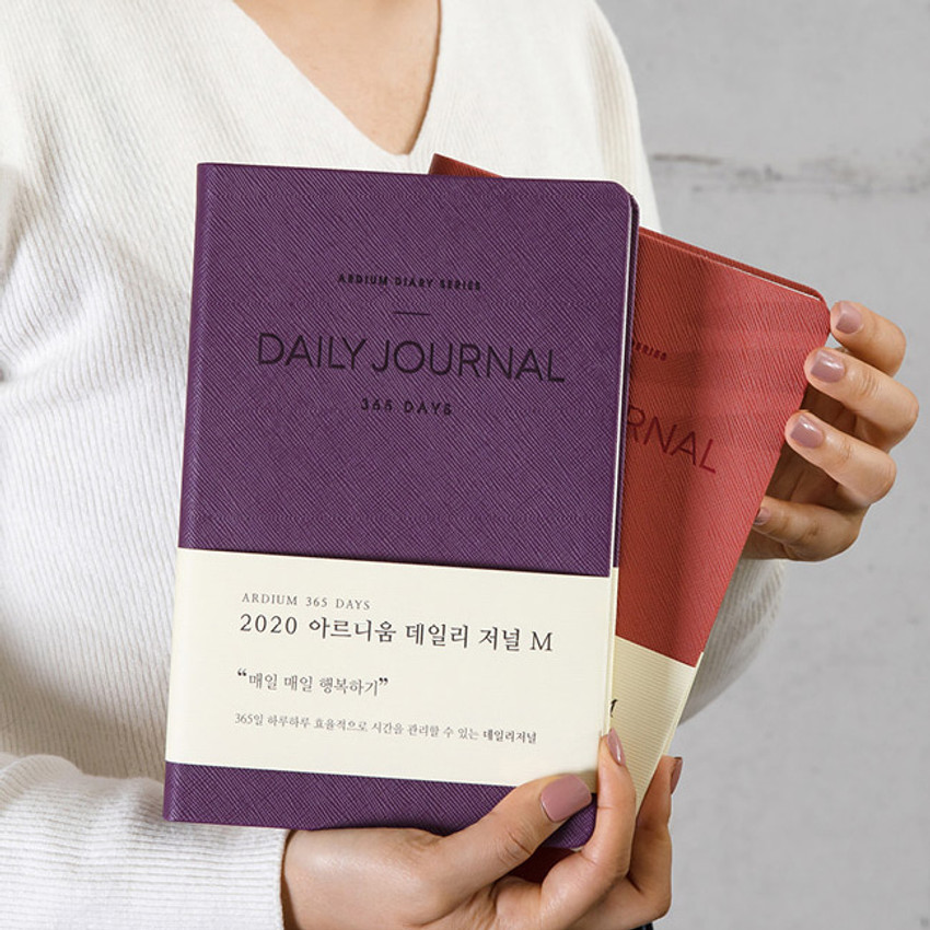 2020 365 days medium dated daily journal diary