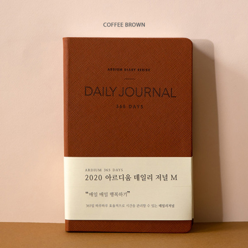 Coffee brown - 2020 365 days medium dated daily journal diary