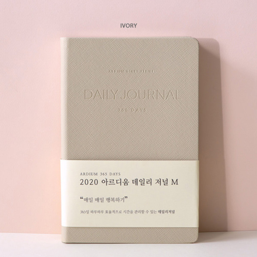 Ivory - 2020 365 days medium dated daily journal diary