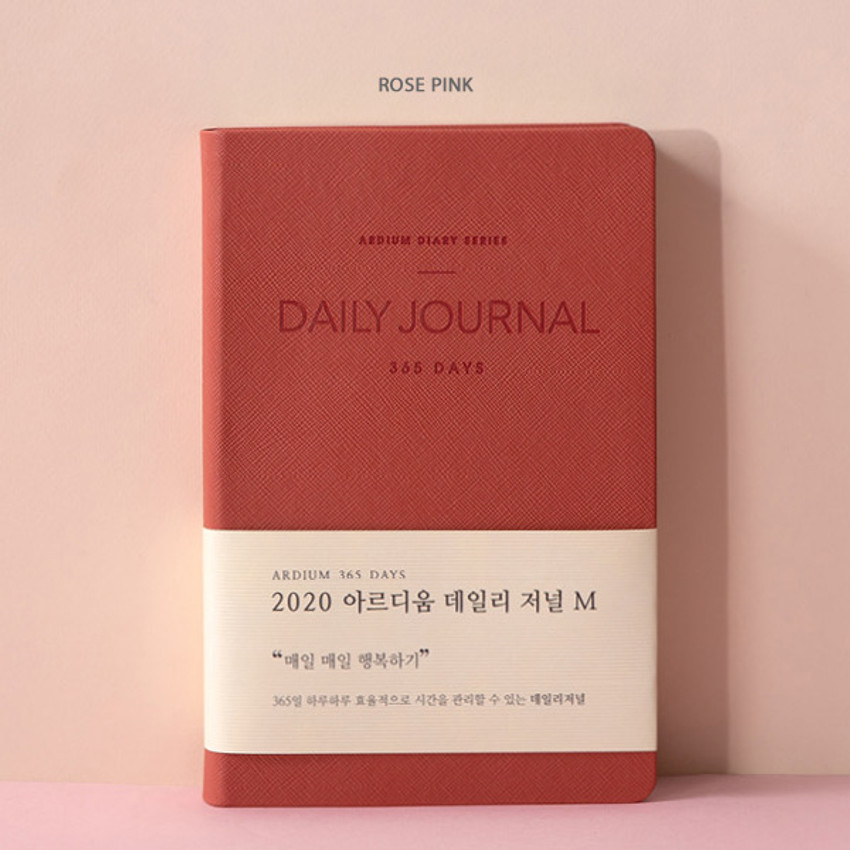 Rose pink - 2020 365 days medium dated daily journal diary