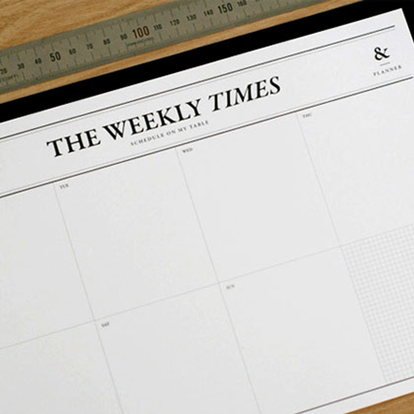 The Weekly Times desk notepad