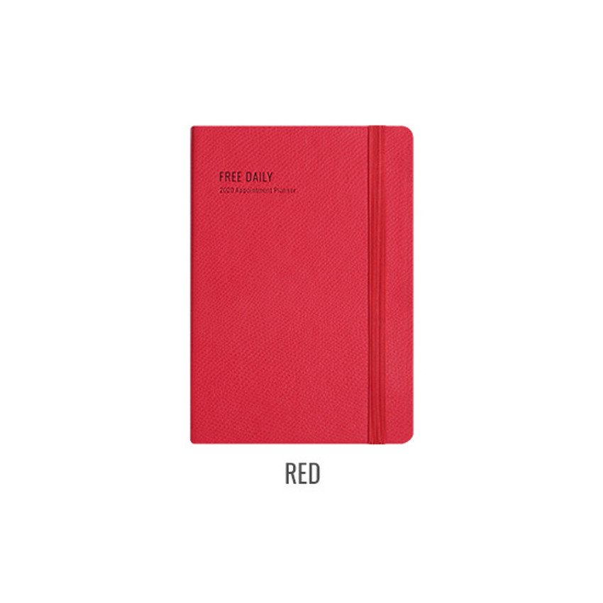 Red - Monopoly 2020 Appointment B6 Free dated daily planner