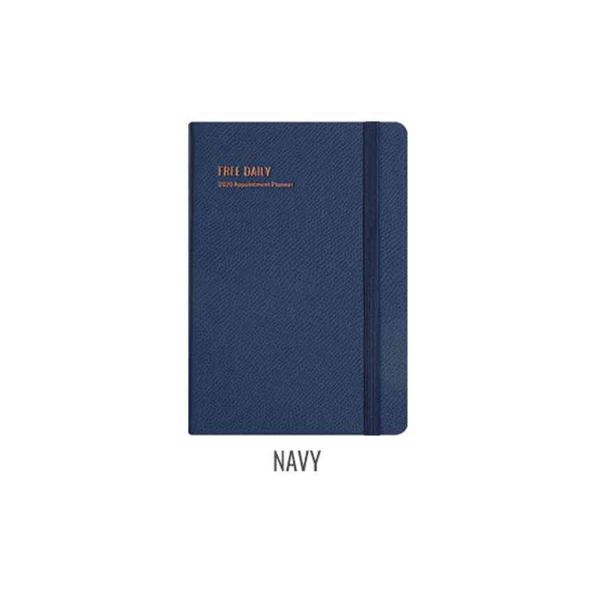 Navy- Monopoly 2020 Appointment B6 Free dated daily planner