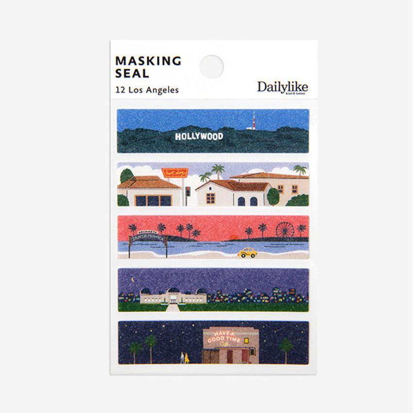 Dailylike Los Angeles masking seal paper deco sticker set