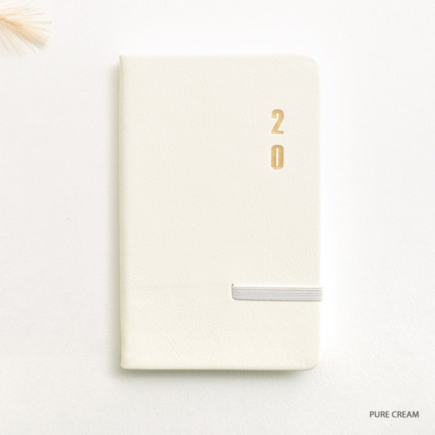 Pure cream - eedendesign 2020 Simple dated weekly diary planner