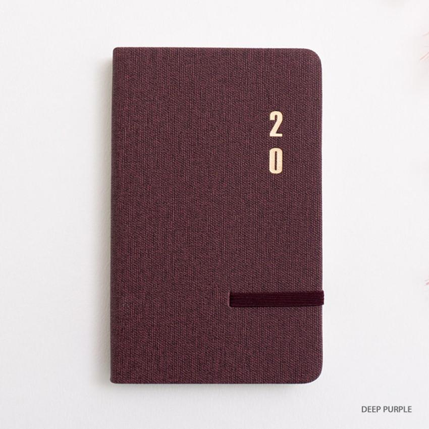 Deep purple - eedendesign 2020 Simple dated weekly diary planner