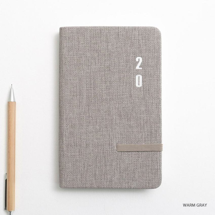 Warm gray - eedendesign 2020 Simple dated weekly diary planner