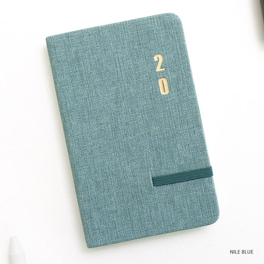 Nile blue - eedendesign 2020 Simple dated weekly diary planner
