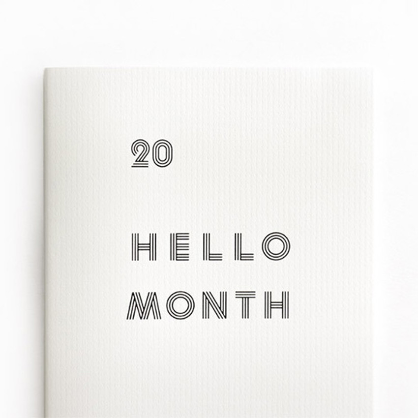 Eedendesign 2020 Hello month A5 dated monthly planner