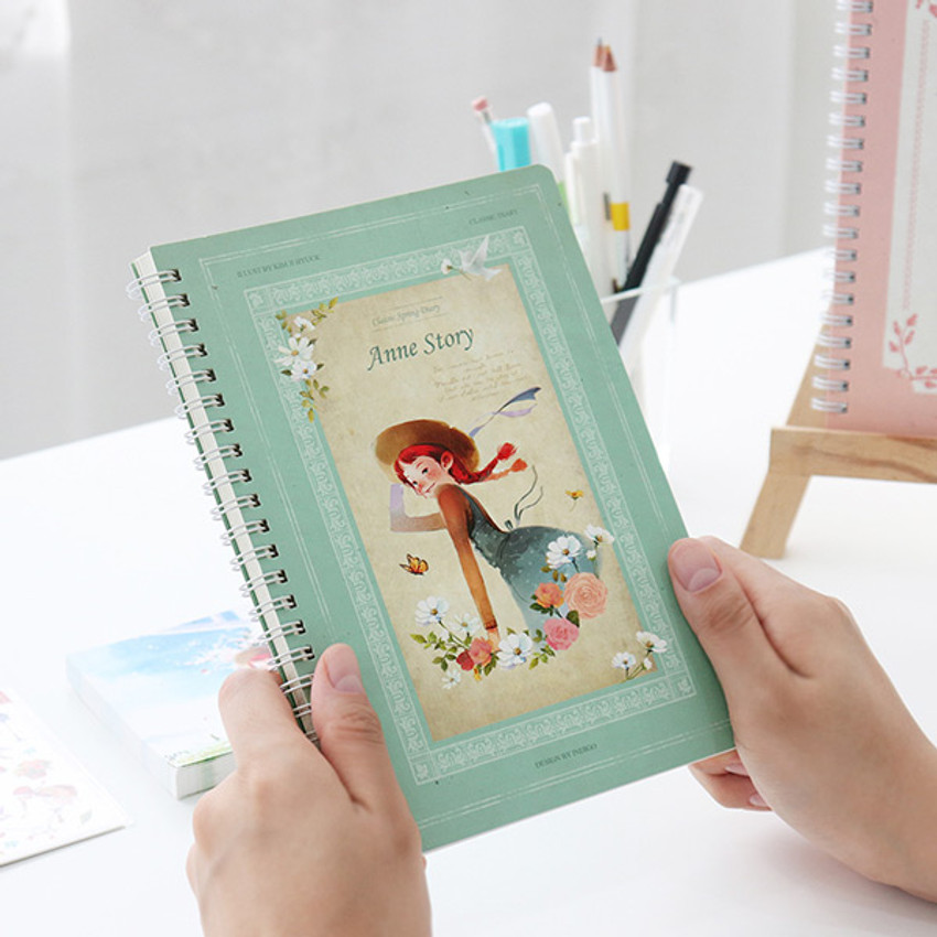 Mint - Anne story spiral undated monthly diary notebook