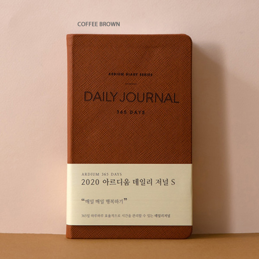 Coffee brown - Ardium 2020 365 days small dated daily journal diary